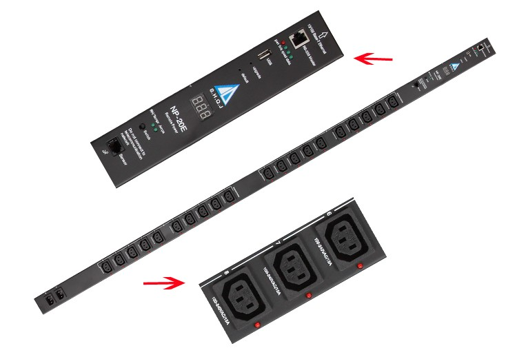 PDU 20 outputs power socket time delay
