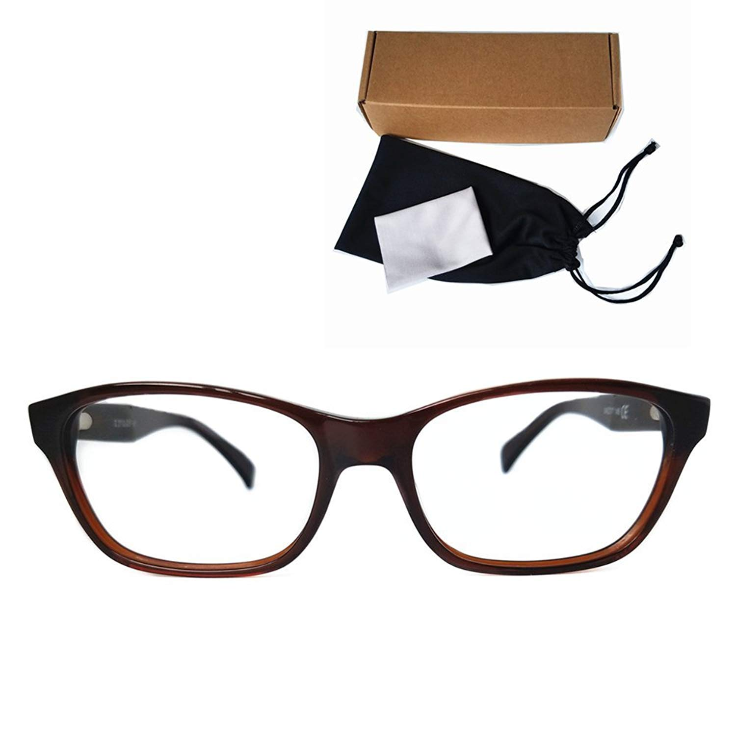 a27cc9f988 Get Quotations · Casual Fashion Squared Acetate Frames Design Clear Eye  Glasses Geek -237