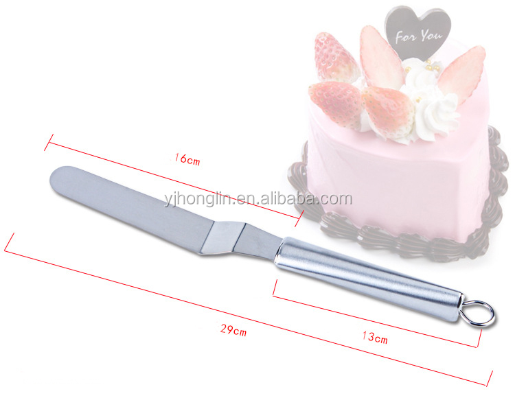 6 inch curved metal angled cake decorating spatula