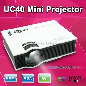 Dihao Uc40 Mini Projector,No.349 Dc 12v Projector