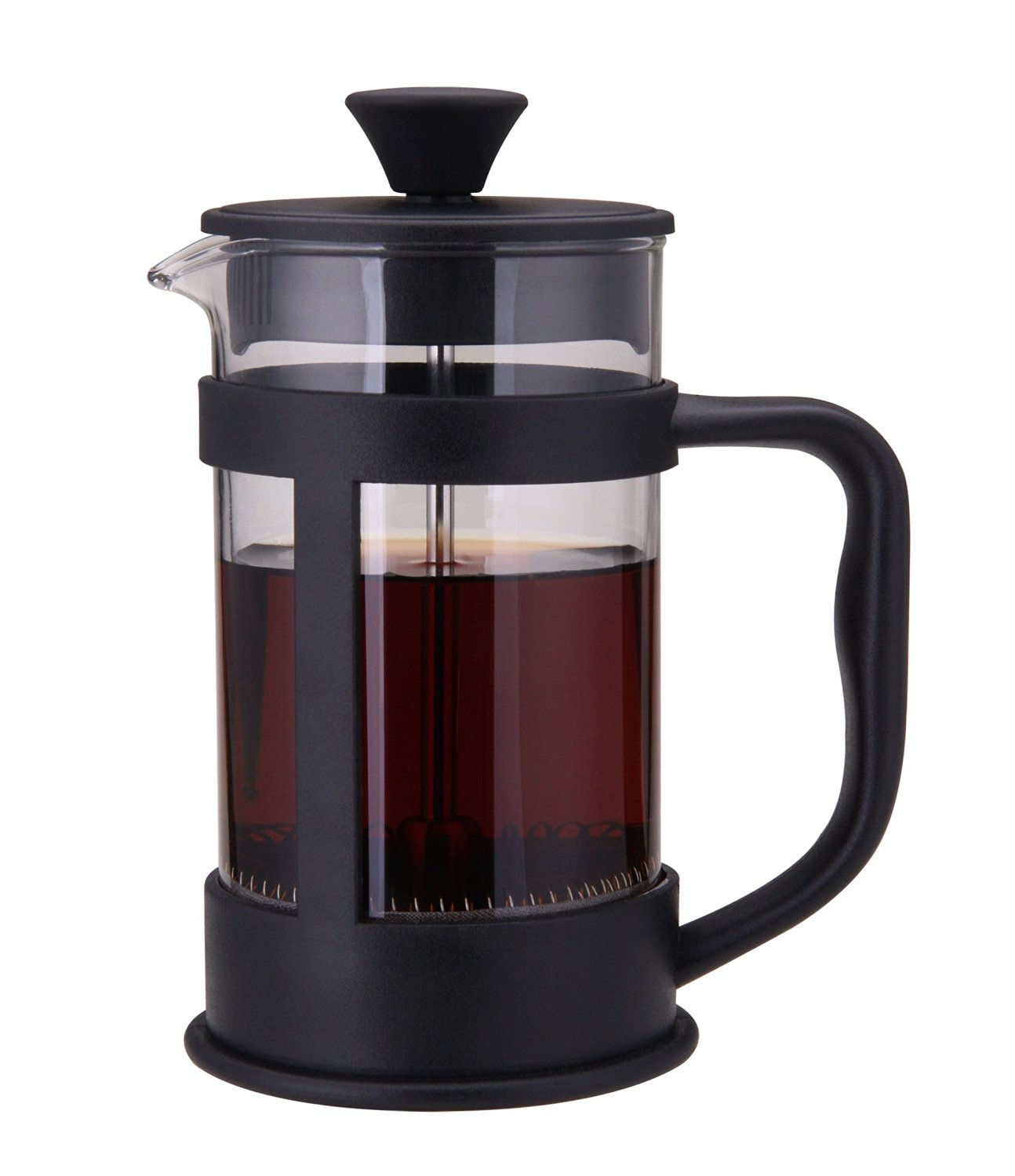 BEST FRENCH PRESS COFFEE MAKER & TEA BREWING for the best Cup of Coffee & Tea You've Ever Tasted. Makes The Perfect Gift. The High Quality, Heat Resistant Borosilicate Glass & 3 part Stainless Steel Plunger brings premium coffee & tea extraction in this French 1000 ml/ 8 cup Coffee Press