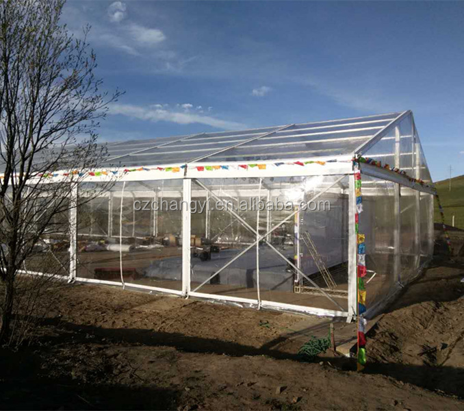 大スパン透明屋外展示パーティーイベント明確なテント