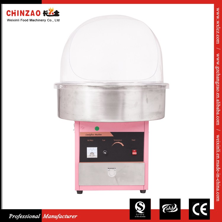 Electric Candy Floss Making Machine Cotton Sugar Maker 52CM Stainless Steel Bowl Pink