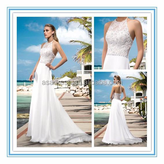 China Beaded A-line Halter Bridal Dress Wholesale 🇨🇳 - Alibaba