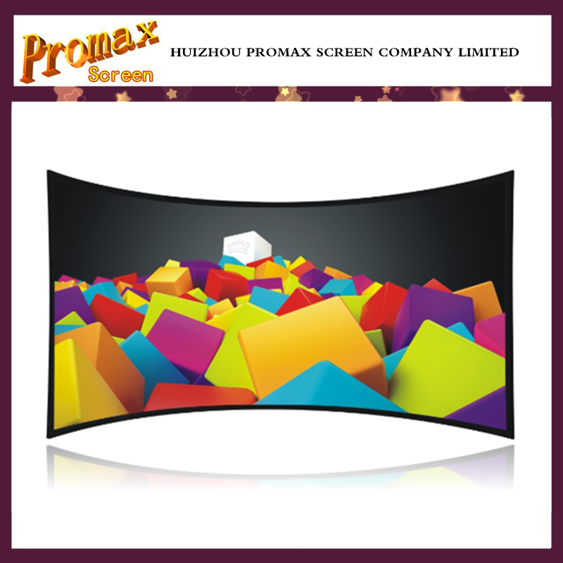 72 inch to 400 inch Curved frame projector screen/ transparent front projection movie theater screen