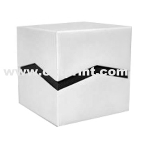 Customized White and Black Cuff BOX with Lid