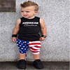 2019 baby boys girls clothing boutique outfits 4th of july children clothes set for Independence Day