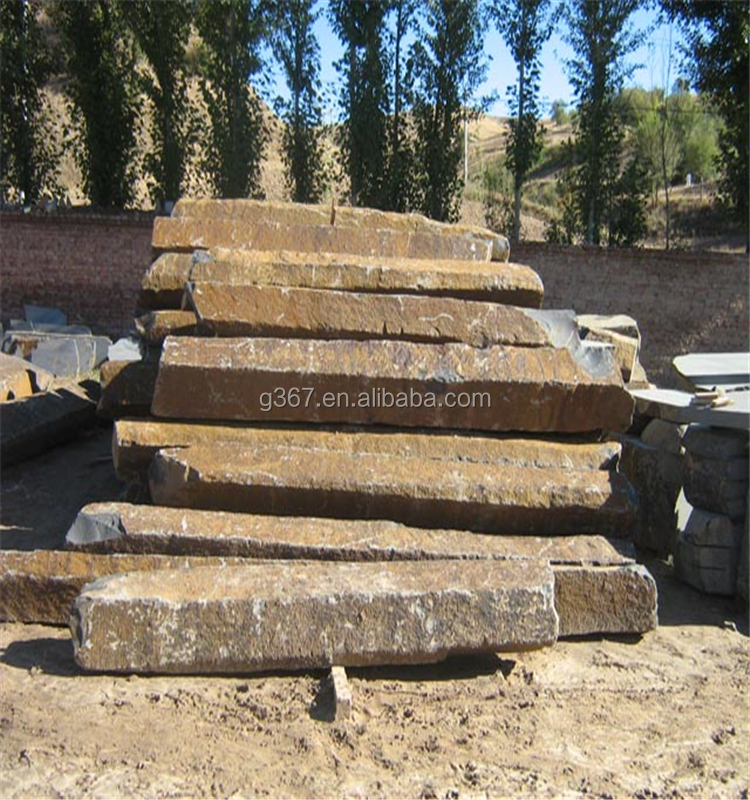 cheap price Natural granite curved paving stone and black basalt blocks and volcanic rock