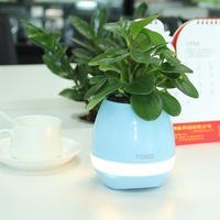 Touch Music Plant Lamp smart garden pots online with good sound speaker