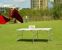6 feet large aluminum 4 folding picnic table