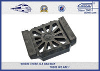 Durable Rubber Pads for Steel Tracks, Black Color Rail Base Part