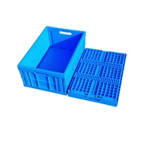 530x410x240 mm vegetables folding plastic crates for storing milk vegetables eggs folding crate