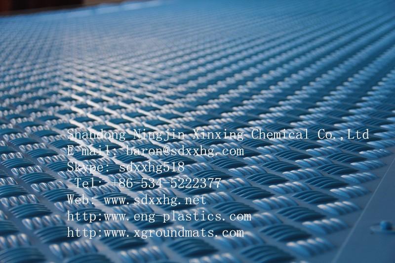 임시 보호 바닥 깔개 Hdpe 접지 보호 매트 건설 트랙 도로 매트 플라스틱 지상 커버 매트 무거운