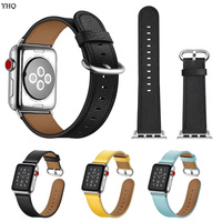 Luxury Soft Leather Strap for Apple Watch Belts Leather Men Smart Watch Band