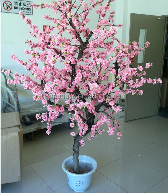 yc10 d corative artificielle cherry blossom bonsa soie fleur artificielle fleur de cerisier. Black Bedroom Furniture Sets. Home Design Ideas