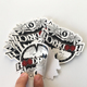 50pcs MOQ Custom Good quality Waterproof Die Cut Logo Stickers