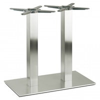 Coffee Aluminium Extendable Stainless Steel Table Base