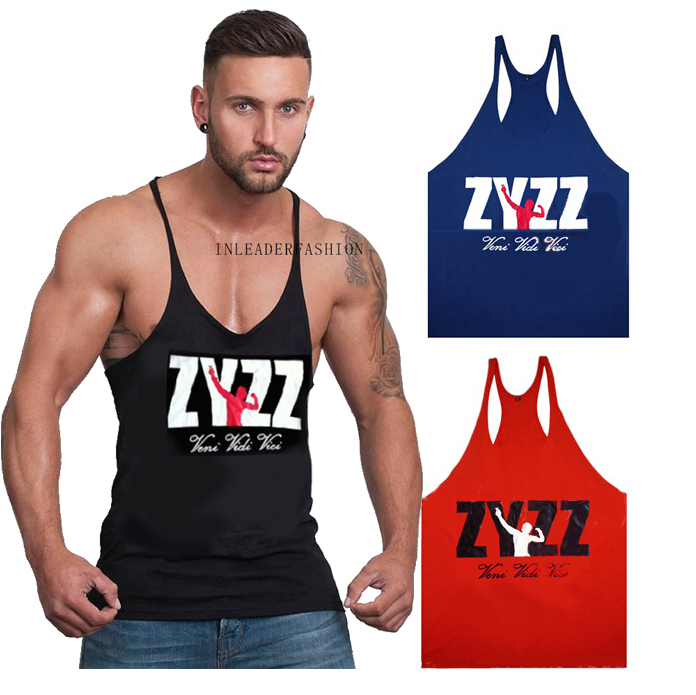 1c61c4e5 Get Quotations · 2015 Men New Arrival ZYZZ Brand Tank tops Gold GymShark  Stringer Bodybuilding Vest Professional Training Fitness