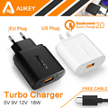 Qualcomm Certified Aukey Quick Charge 2 0 18W USB Wall Charger Smart Fast Charging For
