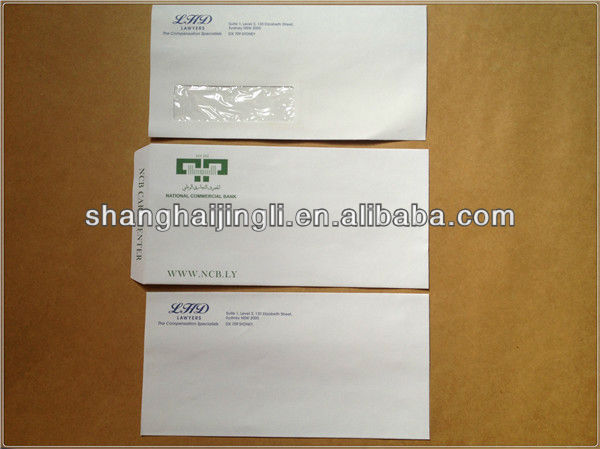 Business paper letter envelope