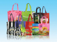 Thermal Transfer Silk Screen Printing Promotional Producing Eco Colorful Shopping Bags