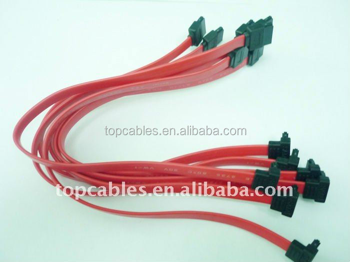 Hi-speed Serial ATA 3 cable with locking latch