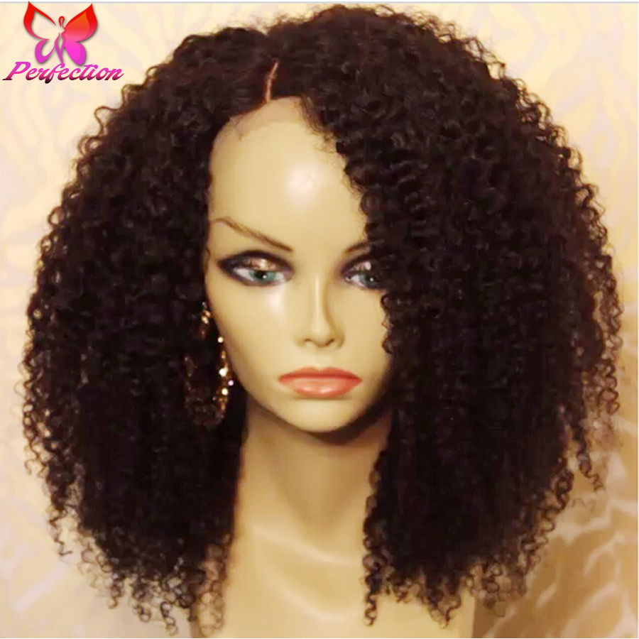 Short Kinky Curly Lace Front Wigs Brazilian Glueless Full