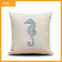 2016 hot sale ocean pillow case good-looking digital printing corma beads pillow