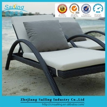 Big Loading Factory Buy Folding Rattan Sun Lounge Chair With Adjustable Back Cushion