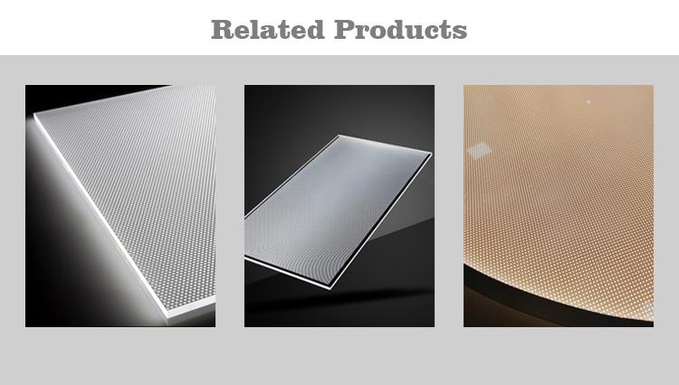 Alta luminosità a basso consumo materiale PMMA edgelux pannello ha condotto la luce pannello