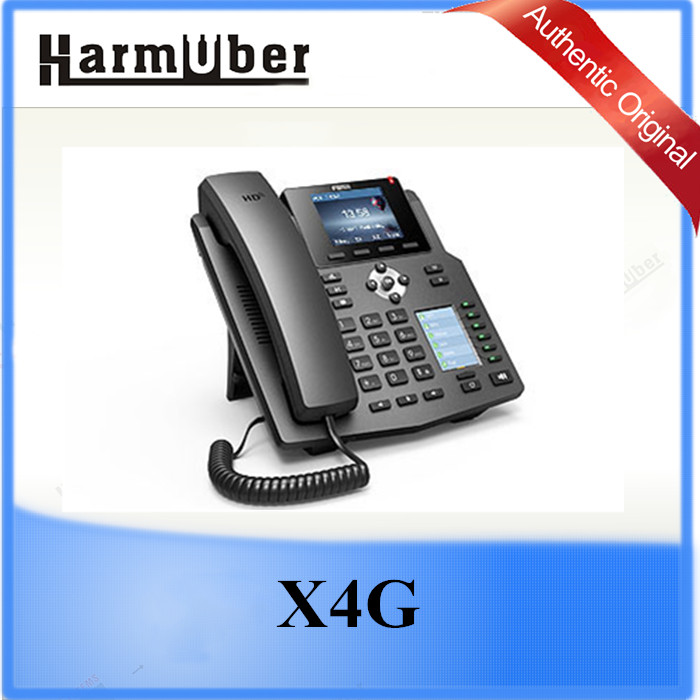 Fanvil X4G Intelligent DSS Key-mapping LCD Display PoE IP Phone Gigabit IP Phone