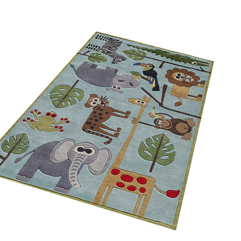 Custom Kinderkamer Cartoon Play Animal Print Tapijten Vloermatten
