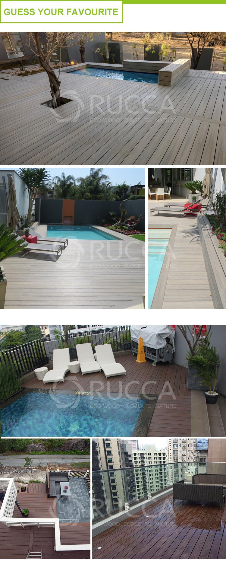 Деревянные пластиковые экструдированные балкон бассейн настил пол водонепроницаемый напольное покрытие