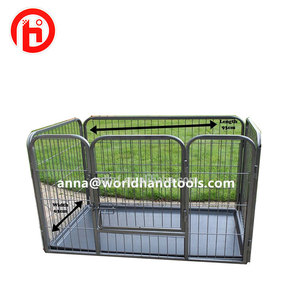 Dog Rolling Cage Pet House Carrier Heavy Duty Box