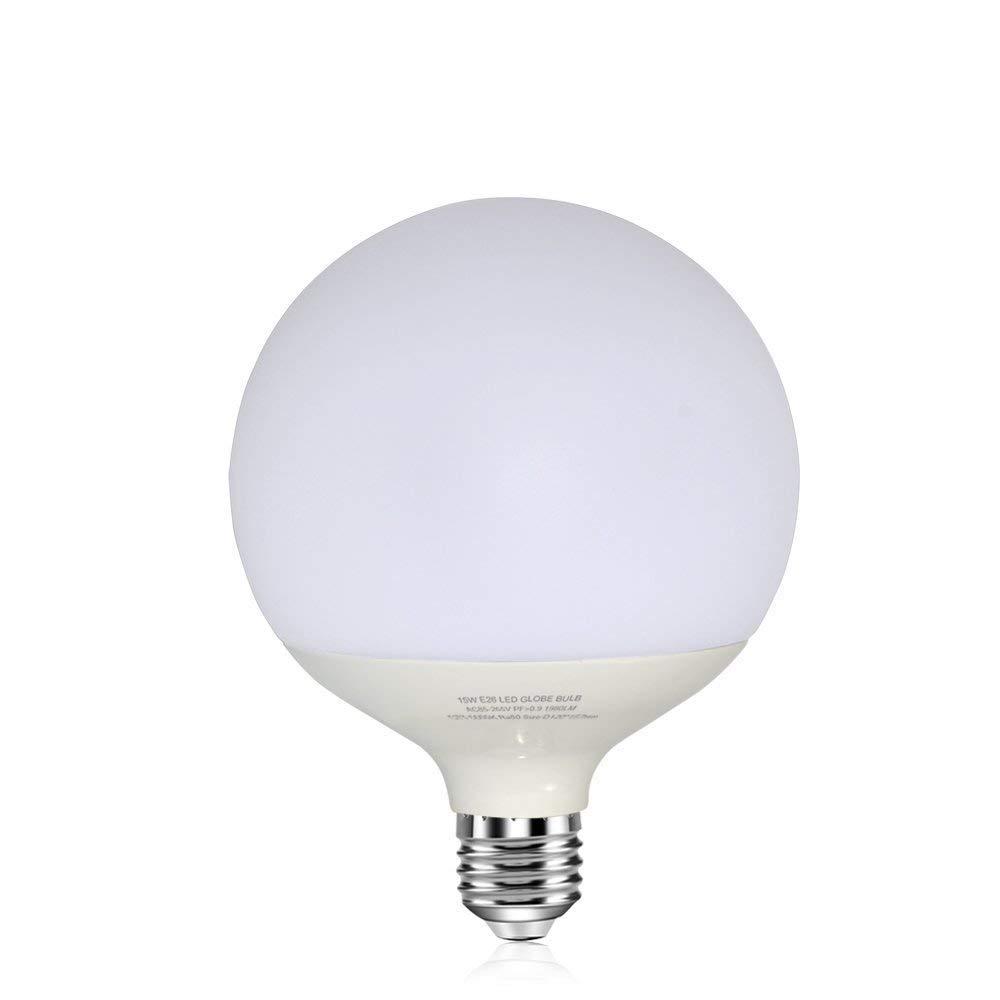 18W LED Globe Bulbs 100-150W Edison Bulb Replacement E26 Base 1980 Lumens (Non-Dimmable 5000k) 36Watt CFL Replacement Large Light Bulb