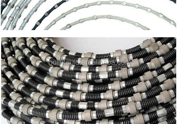 Machine tools cutting beads for quarry stone Type Stone Diamond Cutting Wire Saw