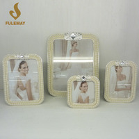 European Pearl-studded Photo Frame Home Decor Metal Picture Frames