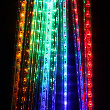 Decorative shower rain tube lights waterproof christmas led meteor shower light