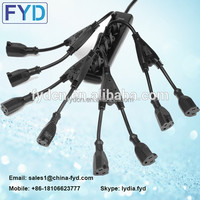 FYD NEMA 3 Pin AC Power Cord 1 to 2 Cable Splitter 1 Male 2 Female