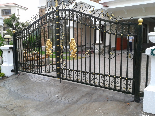 Durable iron gate designs house gate designs main gate Metal gate designs images