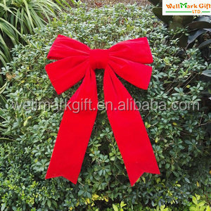 Christmas Tree Decorations Outdoor Printed Burlap Ribbon Bow