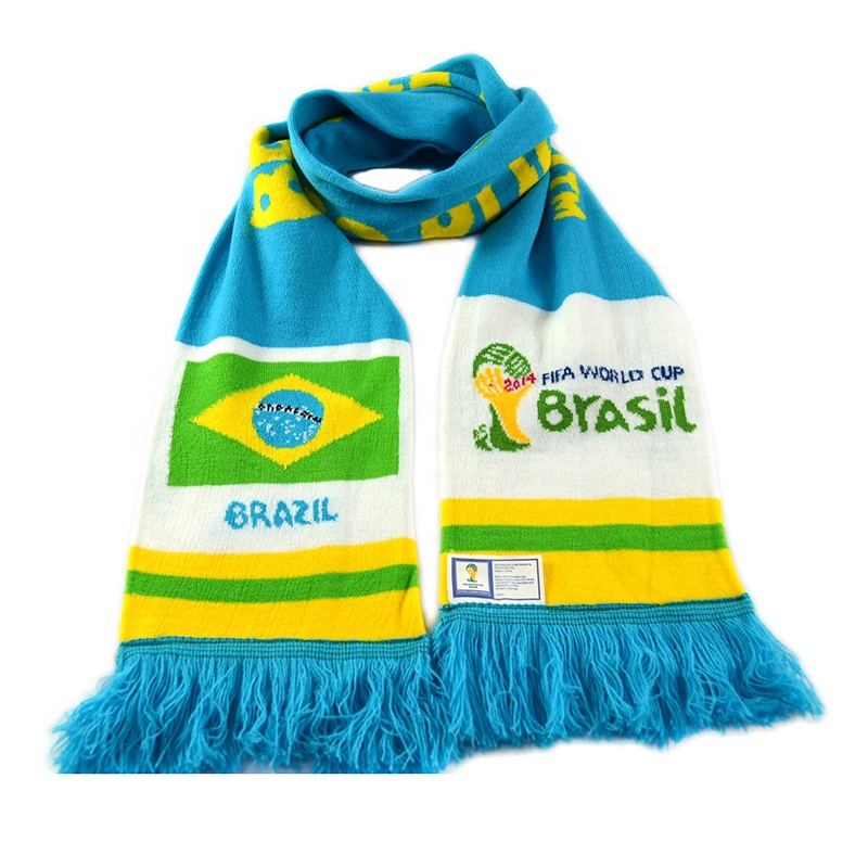 Oem Cheap Price <strong>Custom</strong> Jacquard <strong>Logo</strong> Soccer <strong>Scarf</strong> Acrylic Knitted Fans Football Team <strong>Scarf</strong> <strong>Custom</strong> <strong>Logo</strong>