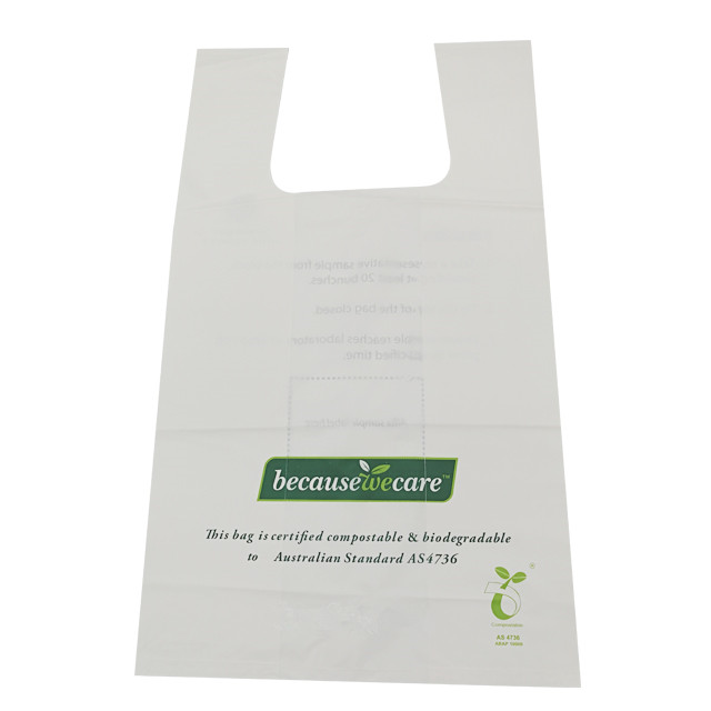 corn starch printed custom made designer plastic shopping bags factory manufacturer
