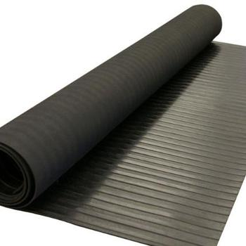 Wide ribbed/broad ribbed  rubber floor mat