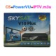 IPTV Set Top Box Sharing SKYSAT V10 Plus with LAN Support WiFi IPTV M3U IKS CCCam Newcamd Youtube PowerVu Biss