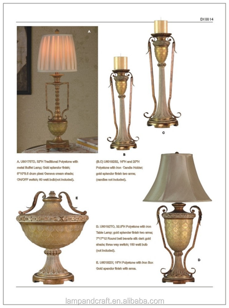 Latest Antique Resin Home Decorative Table Lamp Made In China ...