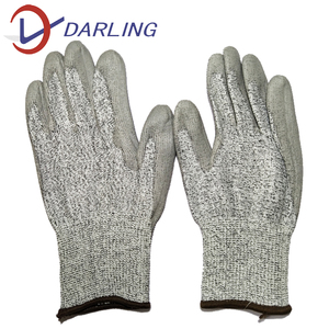 PU coated cut resistant hand gloves industrial gloves hppe knitted working gloves