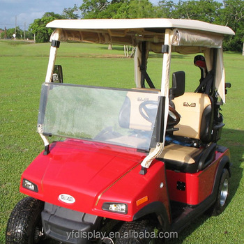 Tinted fold down golf cart windshield, clear club car precedent windshield TXT RXV