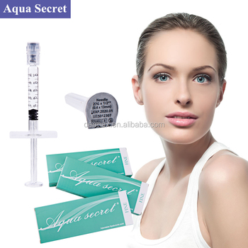 Aqua Secret Ha Hyaluronic Acid Injection Dermal Filler 1ml - Buy Hyaluronic  Acid Dermal Filler 1ml,Hyaluronic Acid Injection,Hyaluronic Acid Product