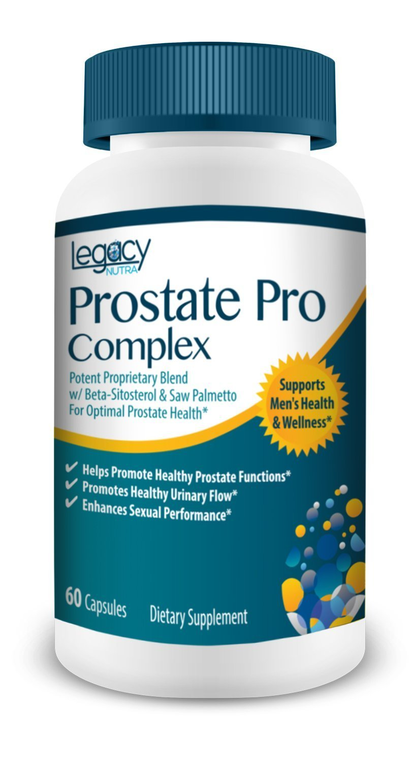 PROSTATE PRO Support - Saw Palmetto & Beta Sitosterol Care Health Supplement - Safe & Complete Complex For Men To Reduce Frequent Urination, Promote Healthy Urine Stream & Flow - Block DHT Naturally